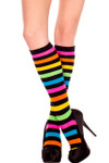 Music Legs Rainbow Stripe Knee High One Size (5307)