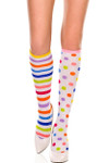 Music Legs Polka Dot And Stripe Knee High One Size