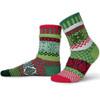 Solmate Socks Mistletoe Adult Crew Sock