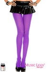 Music Legs Plus Size Opaque Tight Purple