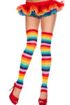 Music legs Acrylic Rainbow Leg Warmer One Size