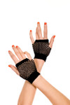 Music legs Thick Diamond Net Gloves Black One Size