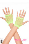 Music Legs Thick Diamond Net Gloves Neon Green One Size