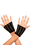 Music Legs Oval Net Gloves Black One Size