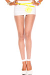 Music Legs Fishnet Leggings White One Size