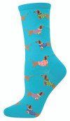 Sock Smith Ladies Socks Haute Dog Blue