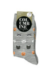 Columbine Merino Wool Crew Sock Mini Cats