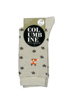 Columbine Merino Wool Crew Sock Paw Fox