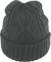 Avenel  Cable Knit Cuffed Beanie Black