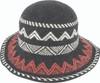 Avenel Boiled Wool Aztec Pattern Hat Black