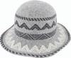 Avenel Boiled Wool Aztec Pattern Hat Grey