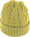 Avenel Cable Knit Cuffed Beanie Mustard