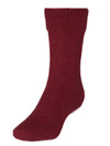 Comfort Socks Possum and Merino Crew Sock Red