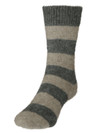 Comfort Socks Possum and Merino Striped Crew Riverstone/Natural