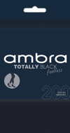 Ambra Totally Black Footless Tight - 200 Denier