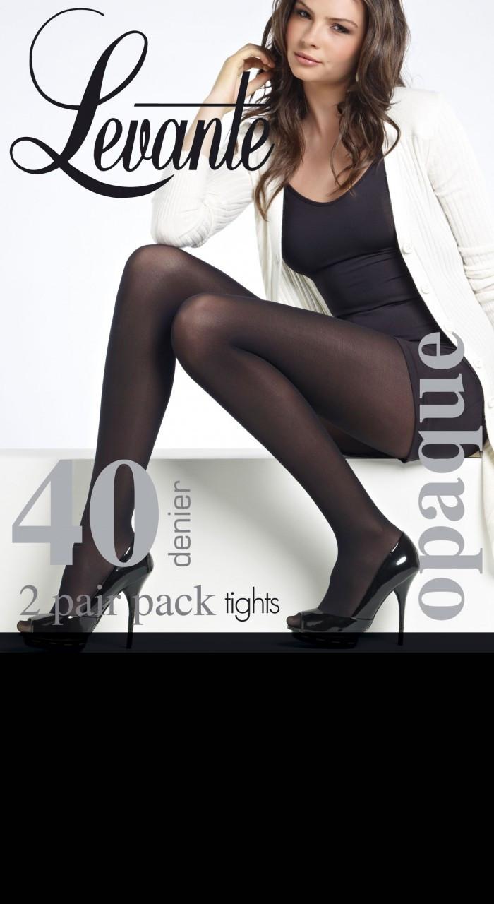 7a02534120e15 Levante 2 Pair Pack Soft Opaque Tights - 40 Denier - The Hobart ...