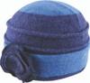 Avenel Boiled Wool Flower Pull On Hat Navy/Blue