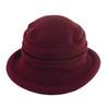 Avenel Boiled Wool Cloche Hat Wine