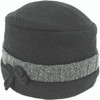 Avenel Boiled Wool Pull On Hat Black/Grey