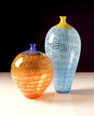 Colored Chantily Lace Vase