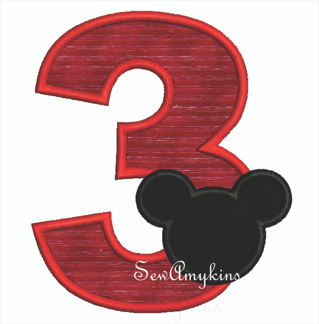 Mickey Mouse Applique Number 3
