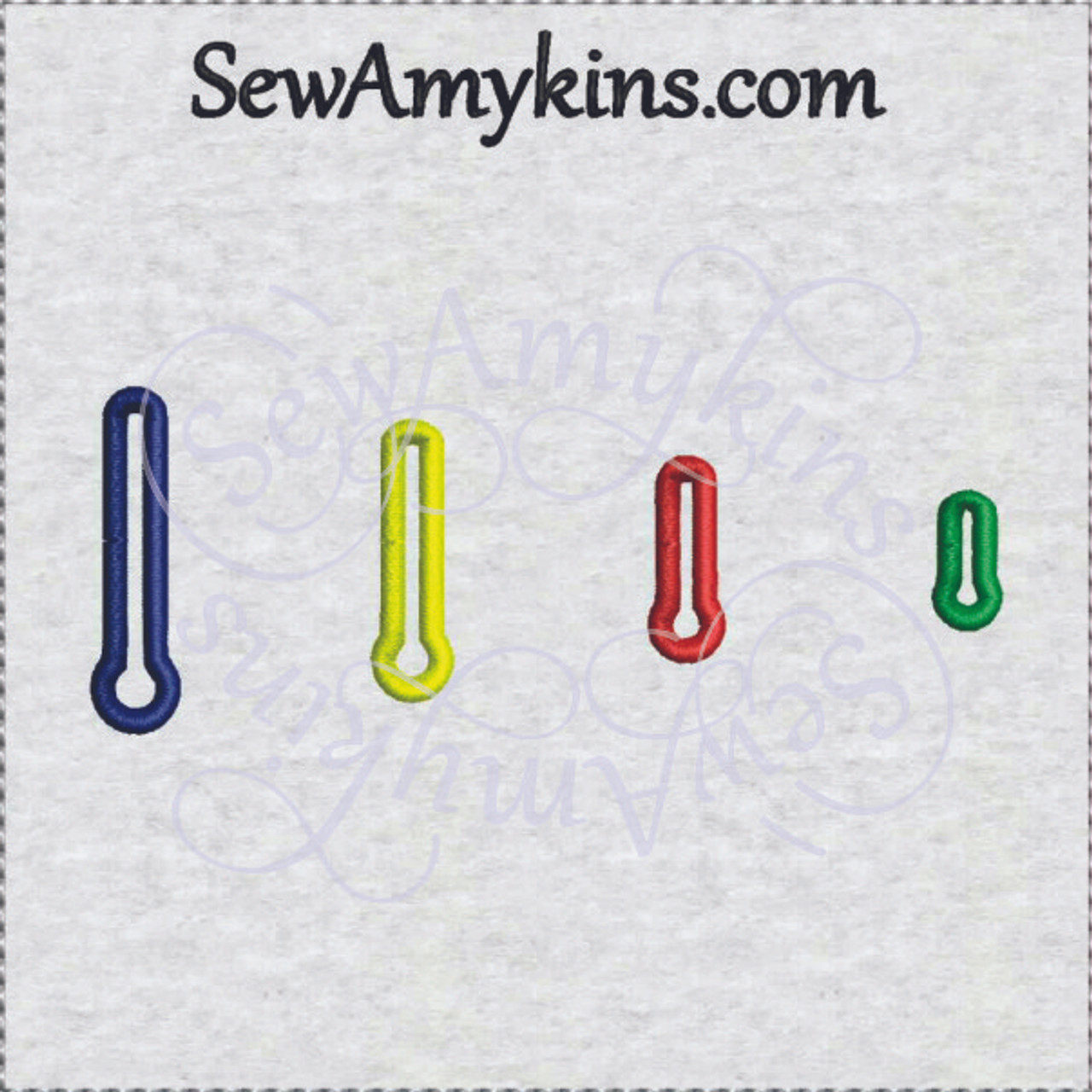 Key Shape Buttonholes Machine Embroidery 4 Sizes Button