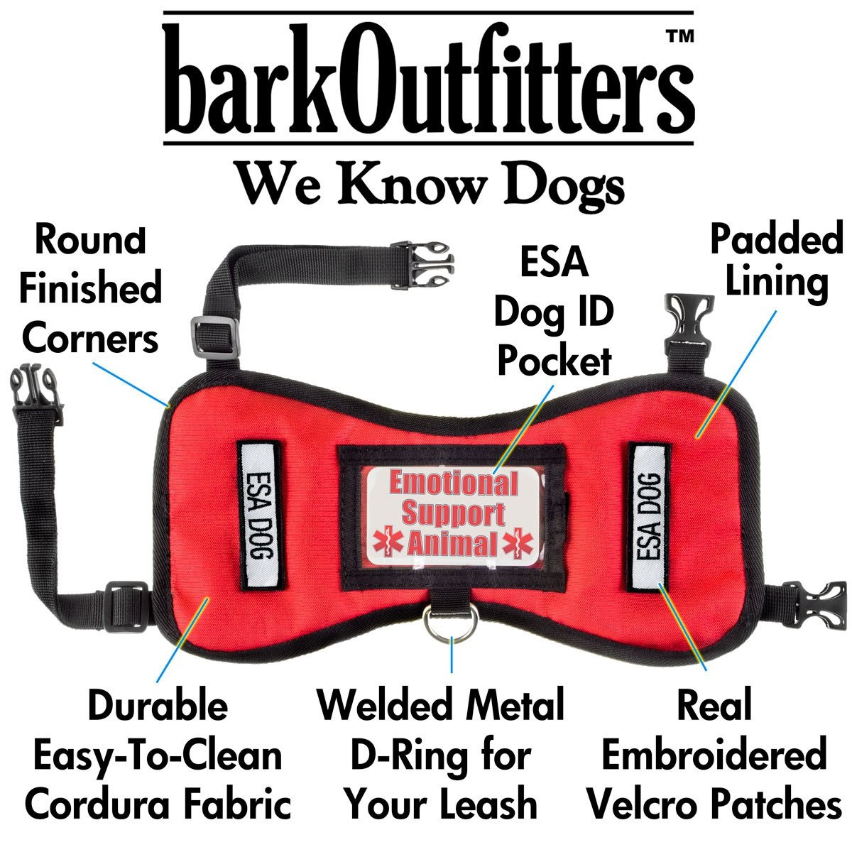 Barkoufitters Quot Leader Quot Emotional Support Animal Vest