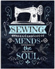 Sewing Mends The Soul - 11x14 Unframed Art Print - Great Apparel/Accessories Manufacturer Office Decor/Sewing Factory Decor