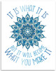 It Is What It Is But It Will Become What You Make It - 11x14 Unframed Art Print - Great Motivational Decor