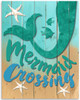 Mermaid Crossing - 11x14 Unframed Art Print - Great Beach House Decor