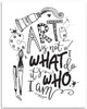 Art Is Not What I Do It's Who I Am - 11x14 Unframed Art Print - Great Gift to Artists