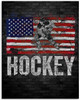 Hockey On American Flag Grunge Cool - 11x14 Unframed Art Print - Great Gift for Hockey Fans, Hockey Players or Man Cave Decor