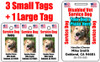 Three small Disabled Vet Service Dog IDs