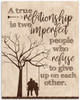 A True Relationship Is Two Imperfect People - 11x14 Unframed Typography Art Print - Great Wedding Gift