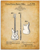 Fender Bass Guitar Patent Print - 11x14 Unframed Patent - Great Gift Under $15 for Guitar Players