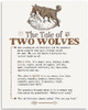 The Tale Of Two Wolves - 11x14 Unframed Typography Art Print - Great Inspirational Decor Under $15