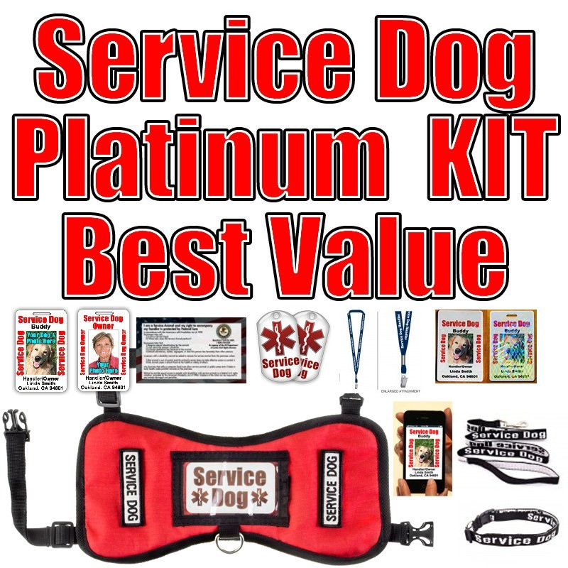 Service Dog Id Tag And Vest Kit