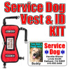 Service Dog ID Tag and Vest Set