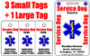 No-Photo Service Dog Tag Set for Small Dogs (3 Sm, 1 Lrg)