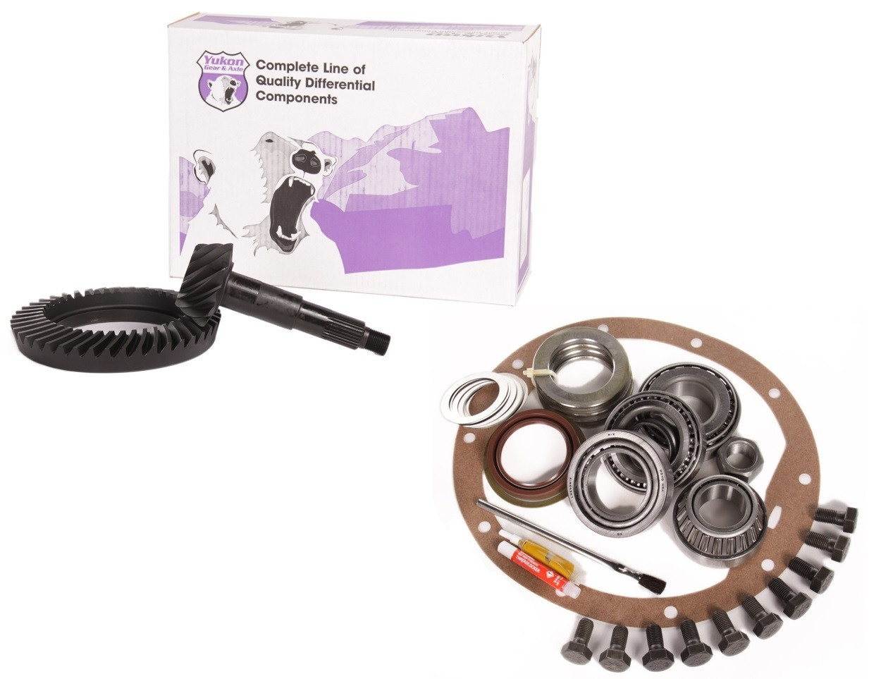 """1955-1964 CHEVY GM 8.2/"""" 55P 3.36 RING AND PINION ELITE MASTER INSTALL GEAR PKG"""