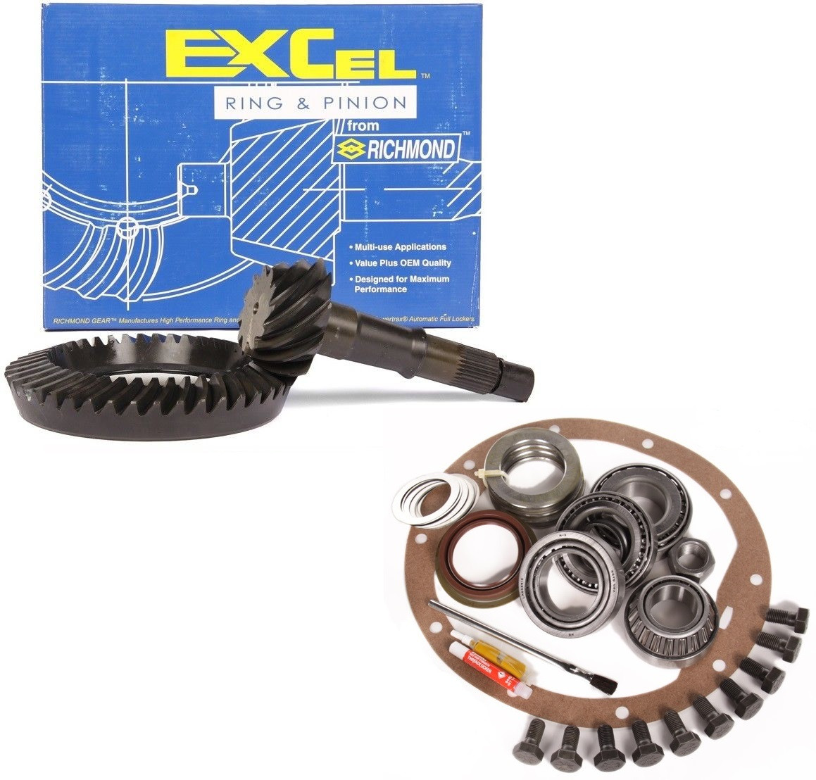 RICHMOND EXCEL 3.89 RING AND PINION /& MASTER BEARING INSTALLATION KIT FORD 8.8