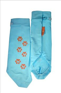 Paw Print light blue sun sleeves for kids
