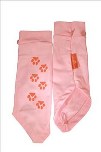 Paw Print pink sun sleeves for kids