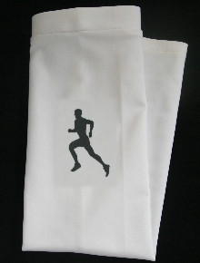 RUNNING SUN SLEEVE BLACK ON WHITE SKATE STYLE SLEEVE SHOWN