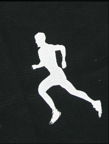 RUNNING SUN SLEEVE WHITE ON BLACK SKATE STYLE SLEEVE SHOWN