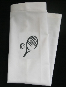 TENNIS -  BLACK DESIGN ON WHITE SKATE STYLE SLEEVE