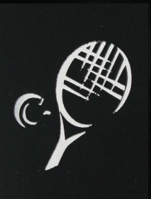 TENNIS -  WHITE DESIGN ON BLACK SUNNY SLEEVEZ