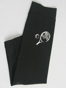 TENNIS -  WHITE DESIGN ON BLACK SUNNY SLEEVEZ skate style - no hand cover
