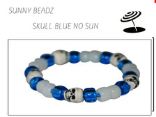 SKULL COLOR-CHANGE BLUE BRACELET IN SHADE