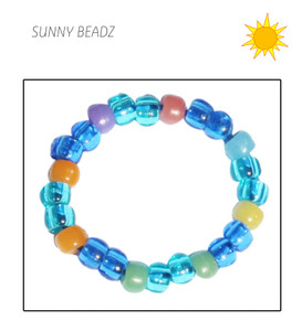BRACELET BLUE Sun-Change beads (kids)